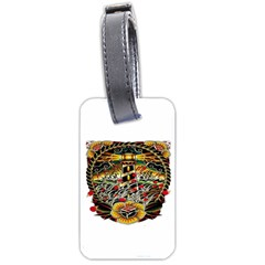 Tattoo Art Print Traditional Artwork Lighthouse Wave Luggage Tags (Two Sides)
