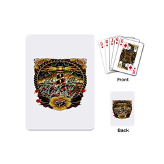 Tattoo Art Print Traditional Artwork Lighthouse Wave Playing Cards (Mini)