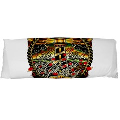 Tattoo Art Print Traditional Artwork Lighthouse Wave Body Pillow Case Dakimakura (two Sides)