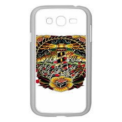 Tattoo Art Print Traditional Artwork Lighthouse Wave Samsung Galaxy Grand DUOS I9082 Case (White)