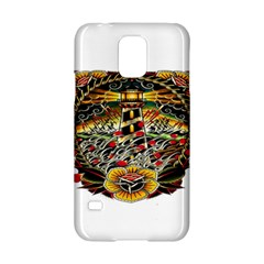 Tattoo Art Print Traditional Artwork Lighthouse Wave Samsung Galaxy S5 Hardshell Case