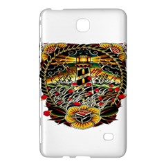 Tattoo Art Print Traditional Artwork Lighthouse Wave Samsung Galaxy Tab 4 (8 ) Hardshell Case