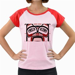 Traditional Northwest Coast Native Art Women s Cap Sleeve T-Shirt