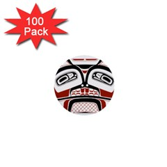 Traditional Northwest Coast Native Art 1  Mini Buttons (100 pack)