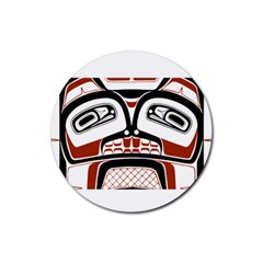 Traditional Northwest Coast Native Art Rubber Coaster (Round)