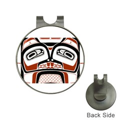 Traditional Northwest Coast Native Art Hat Clips with Golf Markers