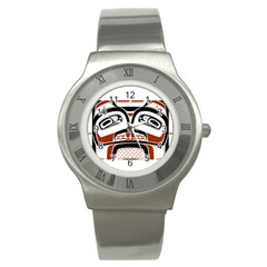 Traditional Northwest Coast Native Art Stainless Steel Watch
