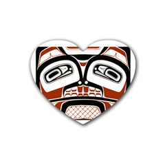 Traditional Northwest Coast Native Art Heart Coaster (4 Pack)