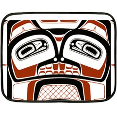 Traditional Northwest Coast Native Art Fleece Blanket (mini)