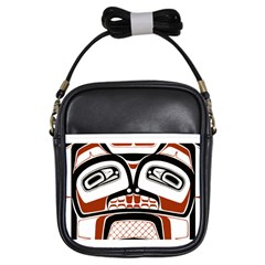 Traditional Northwest Coast Native Art Girls Sling Bags