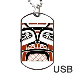 Traditional Northwest Coast Native Art Dog Tag USB Flash (One Side)