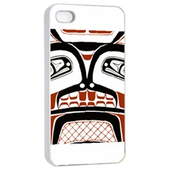Traditional Northwest Coast Native Art Apple iPhone 4/4s Seamless Case (White)