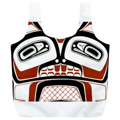 Traditional Northwest Coast Native Art Full Print Recycle Bags (L)