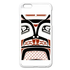 Traditional Northwest Coast Native Art Apple iPhone 6 Plus/6S Plus Enamel White Case