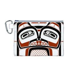 Traditional Northwest Coast Native Art Canvas Cosmetic Bag (M)