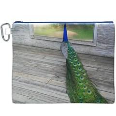 Peacock Canvas Cosmetic Bag (XXXL)