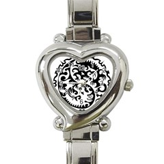 Ying Yang Tattoo Heart Italian Charm Watch