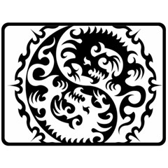 Ying Yang Tattoo Fleece Blanket (Large)