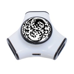 Ying Yang Tattoo 3 Port Usb Hub