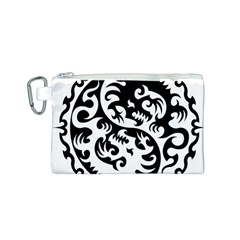 Ying Yang Tattoo Canvas Cosmetic Bag (S)