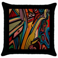 Vivid Colours Throw Pillow Case (Black)