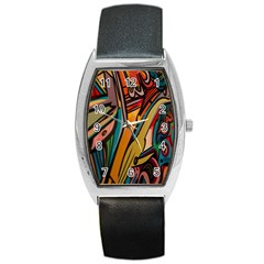 Vivid Colours Barrel Style Metal Watch