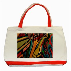 Vivid Colours Classic Tote Bag (Red)