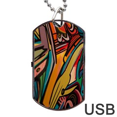 Vivid Colours Dog Tag Usb Flash (one Side)