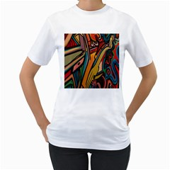 Vivid Colours Women s T Shirt (white)