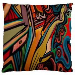 Vivid Colours Large Flano Cushion Case (two Sides)