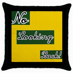 NO LOOKING BACK Throw Pillow Case (Black)