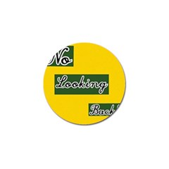 NO LOOKING BACK Golf Ball Marker (10 pack)