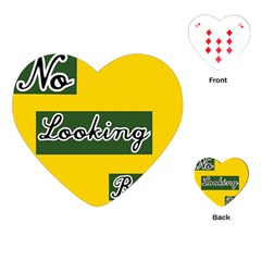NO LOOKING BACK Playing Cards (Heart)