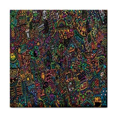 Trees Internet Multicolor Psychedelic Reddit Detailed Colors Tile Coasters