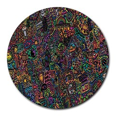 Trees Internet Multicolor Psychedelic Reddit Detailed Colors Round Mousepads