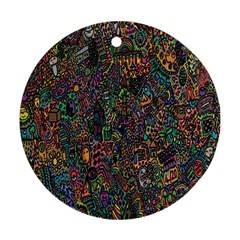 Trees Internet Multicolor Psychedelic Reddit Detailed Colors Ornament (round)
