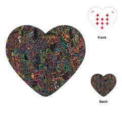 Trees Internet Multicolor Psychedelic Reddit Detailed Colors Playing Cards (Heart)