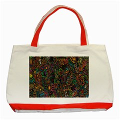 Trees Internet Multicolor Psychedelic Reddit Detailed Colors Classic Tote Bag (Red)
