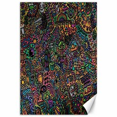 Trees Internet Multicolor Psychedelic Reddit Detailed Colors Canvas 12  x 18