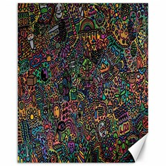 Trees Internet Multicolor Psychedelic Reddit Detailed Colors Canvas 16  x 20
