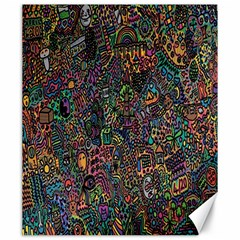 Trees Internet Multicolor Psychedelic Reddit Detailed Colors Canvas 20  x 24