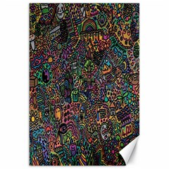 Trees Internet Multicolor Psychedelic Reddit Detailed Colors Canvas 20  x 30
