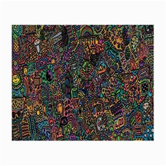 Trees Internet Multicolor Psychedelic Reddit Detailed Colors Small Glasses Cloth (2-Side)