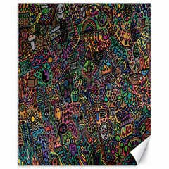Trees Internet Multicolor Psychedelic Reddit Detailed Colors Canvas 11  x 14