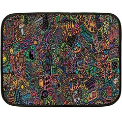 Trees Internet Multicolor Psychedelic Reddit Detailed Colors Double Sided Fleece Blanket (Mini)