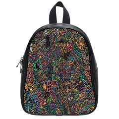 Trees Internet Multicolor Psychedelic Reddit Detailed Colors School Bags (small)