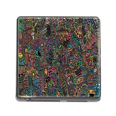 Trees Internet Multicolor Psychedelic Reddit Detailed Colors Memory Card Reader (square)