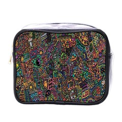 Trees Internet Multicolor Psychedelic Reddit Detailed Colors Mini Toiletries Bags