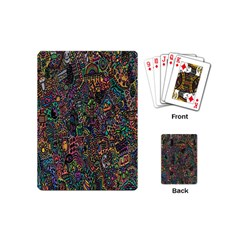 Trees Internet Multicolor Psychedelic Reddit Detailed Colors Playing Cards (Mini)