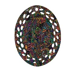 Trees Internet Multicolor Psychedelic Reddit Detailed Colors Ornament (oval Filigree)